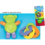 2 PK RATTLE TEETHER SET FOR BABY