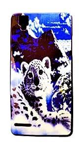 Generic Best Printed Fiber Back Cover For Oppo F1 (Multi Color)