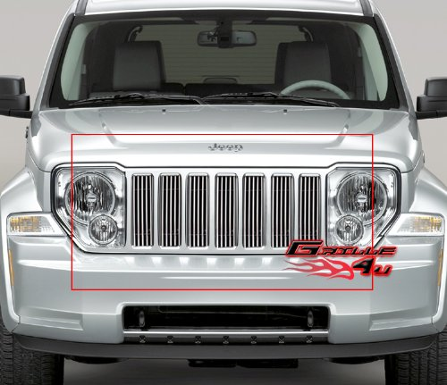 08-12 2011 2012 Jeep Liberty Vertical Billet Grille Grill Insert (Jeep Liberty Grill compare prices)