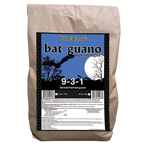 Vital Earth'S High Nitrogen Bat Guano 9-3-1, 22-Pound Bag