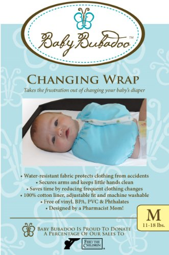 Baby Bubadoo Diaper Changing Wrap - Medium - Pink