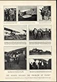 US Senators Meeting Wright Brothers Aviation Inventor 1909 antique Harpers print