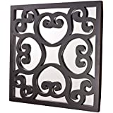 MIRALL DECOR DECORATIVE SQUARE HAND CARVED WALL MIRROR FOR HOME DECOR