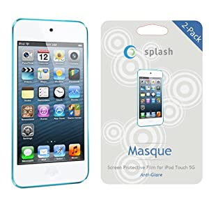 splash MASQUE Screen Protector Film Matte (ANTI-GLARE) for iPod Touch 5 5G 5th Generation (2-Pack) 2012 NEWEST MODEL