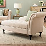 Storage Chaise Lounge Luxurious Tufted Classic/traditional Style