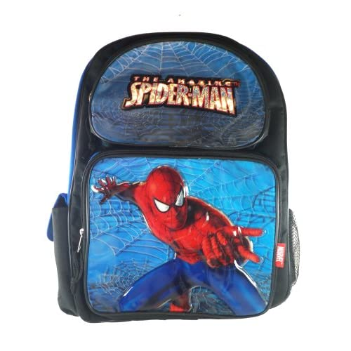 Amazon.com: Full Size Black Spiderman Backpack - Spiderman Bookbag