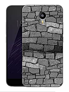 "Monochrome Bricks Printed Designer Mobile Back Cover For ""Google Infocus M2 Note"" By Humor Gang (3D, Matte Finish, Premium Quality, Protective Snap On Slim Hard Phone Case, Multi Color)"