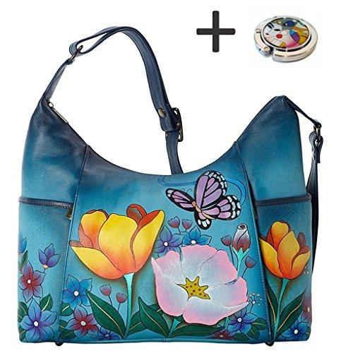 anna-by-anuschka-hobo-handbag-purse-holder-tall-floral-garden-denim