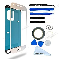 Samsung Galaxy S4 mini White Display Touchscreen replacement kit 12 pieces incl tools / pre cut Sticker / cleaning cloth / suction cup / wire MMOBIEL