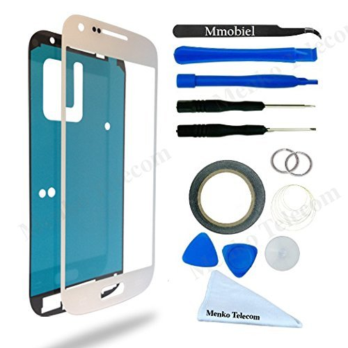 Display for Samsung Galaxy S4 mini White screen Glass replacement kit 12pcs incl tools / pre cut Sticker / cleaning cloth / suction cup / wire MMOBIEL (Samsung Galaxy S4 Mini Kit compare prices)
