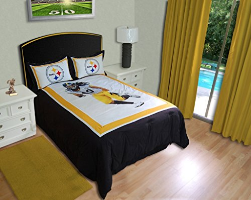 Exceptional Pittsburgh Steelers Troy Polamalu Comforter Set From SteelerMania
