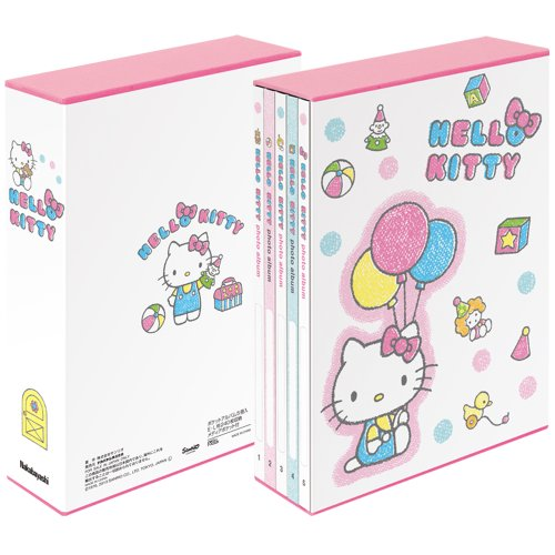 Nakabayashi Hello Kitty 5 PL Pocket album wireless binding expression l size 3-stage Pocket Kitty / crayon a-PL-270-5