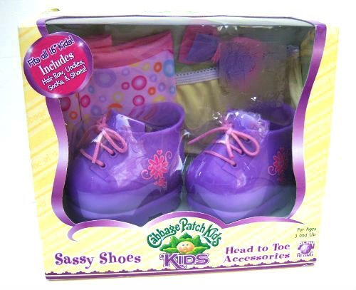 Cabbage Patch Kids Sassy Purple Sneaker Shoes and Head to Toe Accesories (4 Year Old Accesories compare prices)