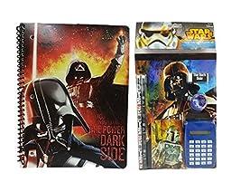 Star Wars Darth Vader Back to School Set (Notebook, Notepad, Pencil, Calculator, Eraser & Sharpener)