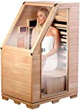 newgen medicals Kompakte Infrarot-Sitzsauna aus Hemlock-Holz, 760 Watt