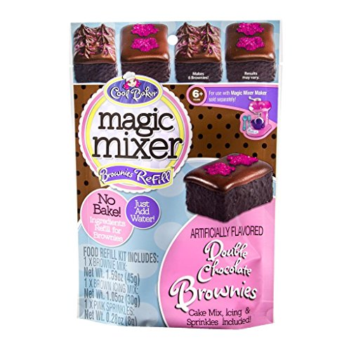 Cool Baker Magic Mixer Brownies Refill Kit - Double Chocolate Brownies 1.59 OZ, 1.05 OZ, 0.28 OZ (Magic Mixers compare prices)