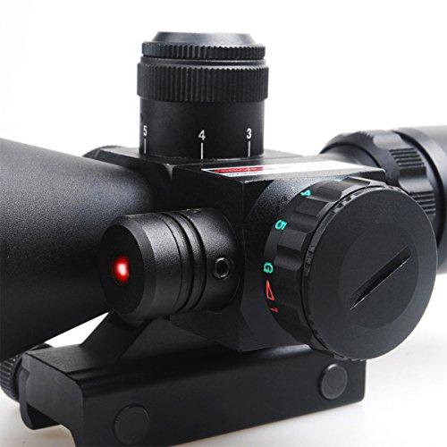 CVLIFE Optics Hunting Rifle Scope 2.5-10x40e Red & Green Illuminated Crosshair Gun Scopes with Free 20mm & 11mm Rail Mount