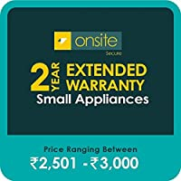 Onsite Secure 2 Year Extended Warranty for Small Appliances (Rs 2501 - 3000)