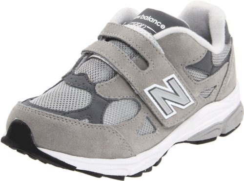 New Balance KV990 Hook and Loop Running Shoe (Little Kid),Grey,11 W US Little Kid