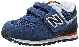 New Balance KG574ICore Plus Running Shoe (Infant/Toddler), Blue/Black, 2 W US Infant
