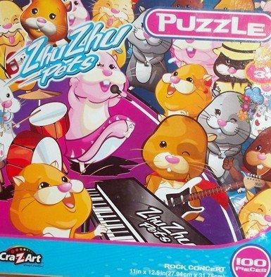 "Zhu Zhu Pets ""Rock Concert"" 100 Piece Puzzle"