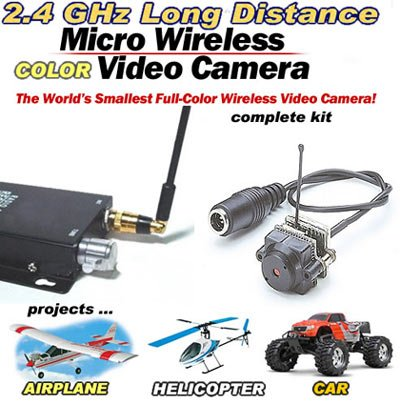 Mini Wireless Micro-Spy Video Camera 2.4GHz (Complete Package)