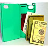 iFunner, Apple iPhone 4 4s Case,Hard Plastic Durable ID (holds 4) Credit Card Slim Wallet, AT&T Verizon Sprint, Springtime Green ~ iFunner