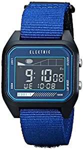 Electric Men's EW0120020032 ED01 Tide Nato Band Digital Display Japanese Quartz Blue Watch