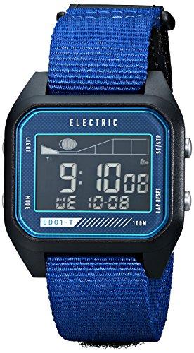Electric Men'S Ew0120020032 Ed01 Tide Nato Band Digital Display Japanese Quartz Blue Watch
