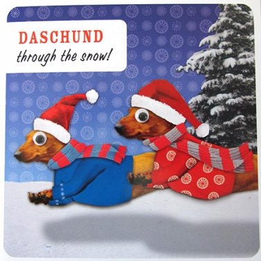 christmas-card-plk0254-googly-eyed-daschund-through-the-snow