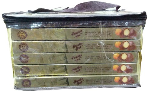 Hawaiian Host Hawaiian Honey-Coated Whole Macadamias in Premium Milk Chocolate GIFT BOX NET WT 7 OZ (198 g) 6 Pack