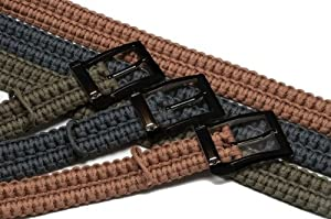 TIMBERLINE Paracord Survival Belt, Olive, X-Large