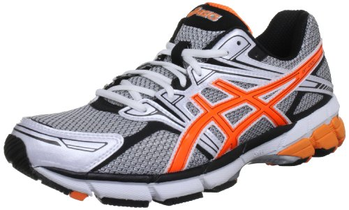 Asics Men's Gt 1000 M White/Neon Orange/Black Trainer T2L1N 0109 7 UK