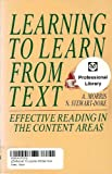 Learning to Learn from Text (0201139804) by A. Morris