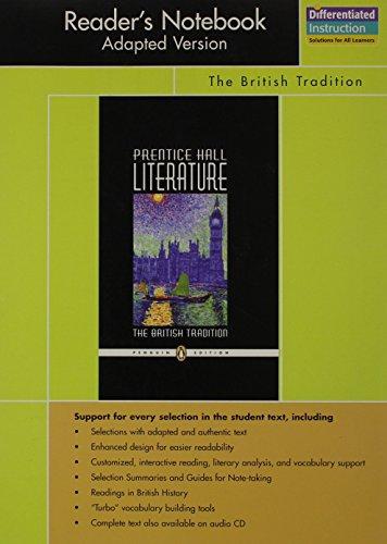 PRENTICE HALL LITERATURE PENGUIN EDITION READERS NOTEBOOK ADAPTED       VERSION GRADE 12 2007C