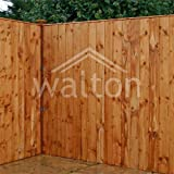Waltons Garden Fencing Panels 6ft x 6ft Vertical Feather Edge 6x6 Fence New Posts 6'x6' - Number of Panels Required: 7 - Number of 75mm Posts Required: 6