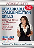 Remarkable Communication Skills: Effective Tools for Managing Difficult People and Situations - Personal and Professional Development Training Seminar on DVD Video