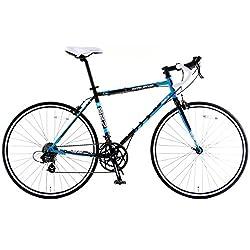 DOPPELGANGER(ドッペルギャンガー) 827-BL FLEET(フリート) 700Cロードバイク デュアルコントロールレバー装備 シマノ14段変速 前後キャリパーブレーキ アナトミックシャローハンドル BACKFLIPPERシリーズ フレームサイズ:500.00mm サドル高:890-1070mm 最上位モデル 【折りたためる本格派ロードバイク】
