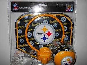 Nfl Mini Softee Hoop Set Pittsburgh Steelers [safe For Indoor Use] at Steeler Mania
