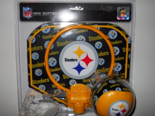 Nfl Mini Softee Hoop Set Pittsburgh Steelers [safe For Indoor Use] at Steeler Mania