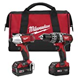 Milwaukee 2697-22 M18 18-Volt 1/2-Inch 2-Tool Combo Kit Includes Charger, Battery (2) and Bag (Color: Red)