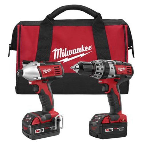 Milwaukee 2697-22 M18 18-Volt 1/2-Inch 2-Tool Combo Kit Includes Charger, Battery (2) and Bag (Milwaukee Drill Trigger compare prices)