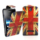 Accessory Master 5055716366129 Protective Shell Cover for Sony Xperia E C1505 Vintage Union Jack Pu Leather