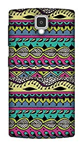 The Racoon Grip AZTEC MULTI-COLORED hard plastic printed back case / cover for Lenovo A1000