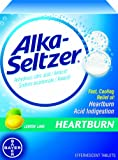 Alka-Seltzer Heartburn Relief Tablets- Lemon Lime, 36-Count Boxes (Pack of 4)
