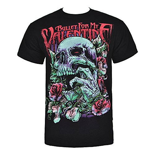 Bullet For My Valentine Pink Skull Eye T Shirt (Black)
