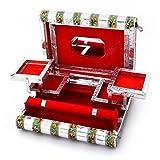 Littlethings4u Colorful Mayur Meenakari Work Red Jewellery Box 370