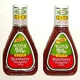 KEN'S Steak House Strawberry Vinaigrette LITE Dressing - 16 Oz (2-Pack)