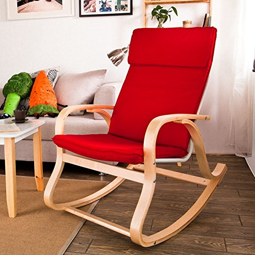 sobuy comfortable relax rocking chair