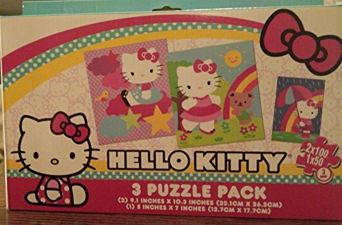 Hello Kitty 3 Puzzle Pack (24 Pieces)